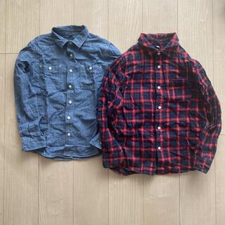 ムジルシリョウヒン(MUJI (無印良品))のチェックシャツ ネルシャツとダンガリーシャツ150(ブラウス)