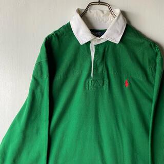 Ralph Lauren - 希少 90's Ralphlauren ラガーシャツ 緑 グリーン 実寸XL