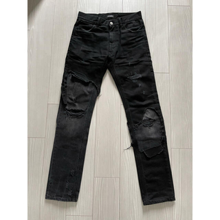 RAF SIMONS - Raf Simons Slim Fit Destroyed Jeans