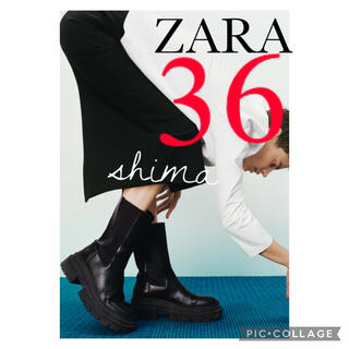 ZARA - ZARA トラックソールフラットフォームアンクルブーツ サイドゴアブーツ