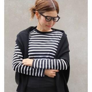 DEUXIEME CLASSE - ドゥーズィエムクラス☆COCO Stripe Tシャツ No5 新品ブラック