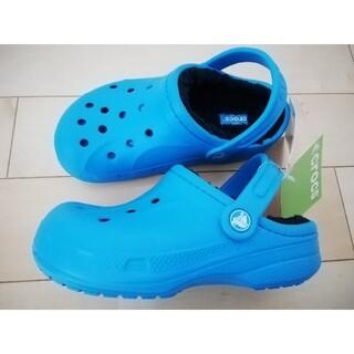 crocs - 【スペシャルsale】新品冬用 ボア付きクロックス レディース キッズ 20cm