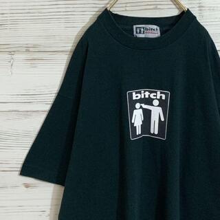 アメリヴィンテージ(Ameri VINTAGE)の【美品】90's bitch ビッチ プリントtシャツ シングルステッチ 黒(Tシャツ/カットソー(半袖/袖なし))