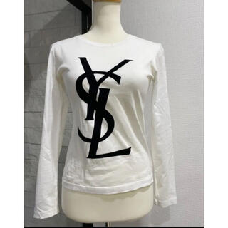 Yves Saint Laurent Beaute - 希少 YVES SAINT イブサンローラン ロング Tシャツ ホワイト 正規品