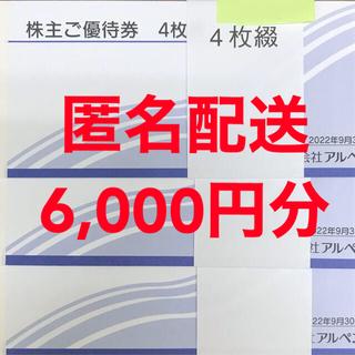アルペン 株主優待券 6,000円分
