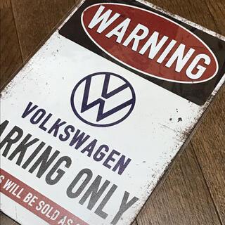 Volkswagen - WARNING フォルクスワーゲン PARKING ONLY ブリキ看板