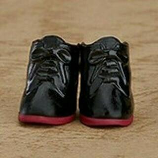 グッドスマイルカンパニー(GOOD SMILE COMPANY)のねんどろいどどーる 編み上げブーツ 黒 ブラック 赤 靴 足 脚 グッスマ(アニメ/ゲーム)
