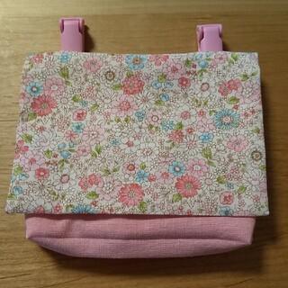 移動ポケット 花柄ピンク