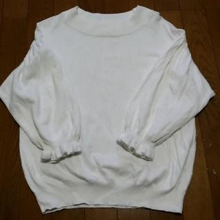 GU - gu 七分袖 パフスリーブセーター オフホワイト