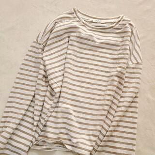 ディーホリック(dholic)のベージュ ボーダーt(Tシャツ(長袖/七分))