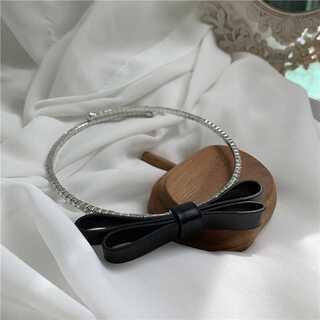 チョーカーネックレス リボン ブラック 量産型