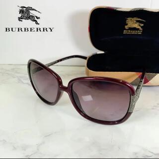 BURBERRY - 数回使用 美品 バーバリー サングラス 59□15 135 専用ケース付き
