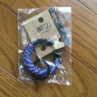 ウィゴー(WEGO)のパラコードキーホルダーキーリング キャンプ登山 防災グッズ ブルー アウトドア(キーホルダー)