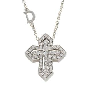 ダミアーニ(Damiani)のダミアーニ K18WGダイヤモンドクロスネックレス(ネックレス)