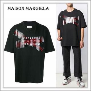 Maison Martin Margiela - タグ付属 メゾンマルジェラ フロントテーピング ロゴ Tシャツ L XL