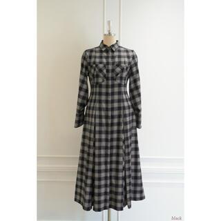 snidel - herlipto CheckeredPleatsLongShirt Dress