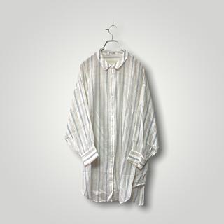 snidel - スナイデル ストライプ シアーシャツ オーバーサイズ