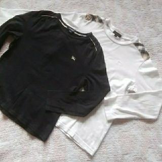 BURBERRY - BURBERRY♡130長袖白・140長袖黒