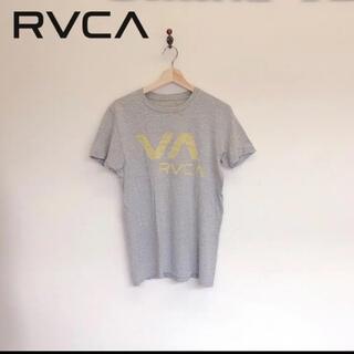 ルーカ(RVCA)の★ RVCA ルーカ 定6000円位 Tシャツ 半袖 丸首 グレー系 S(Tシャツ/カットソー(半袖/袖なし))