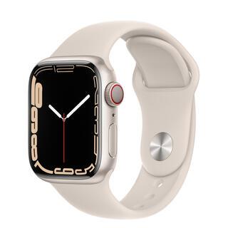 Apple Watch - Apple Watch series7 41mm スターライト アルミ セルラー