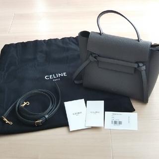 celine - CELINE セリーヌ ベルトバッグ ナノ グレー
