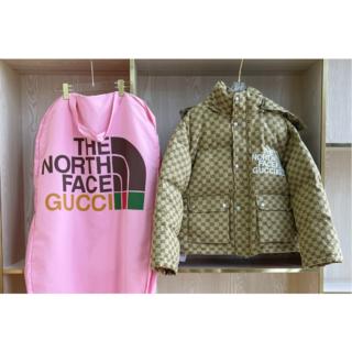 グッチ(Gucci)の2021 グッチ  GGダウンジャケット ベージュ(カーディガン)