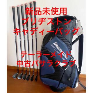 ブリヂストン(BRIDGESTONE)の新品未使用ブリヂストンゴルフバッグ& テーラーメイド レイヨン バサラ中古クラブ(バッグ)