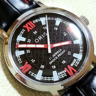 オリス(ORIS)の美品 ORIS オリス ブラック アンティーク 手巻き(腕時計(アナログ))