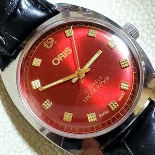 オリス(ORIS)の美品 ORIS オリス レッド アンティーク 手巻き(腕時計(アナログ))