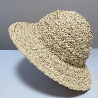 ハンドメイド・ラフィアハット 帽子 M-03(帽子)