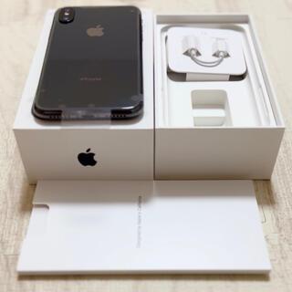 iPhone - iPhoneX 256GB スペースグレイ【新品未使用品】
