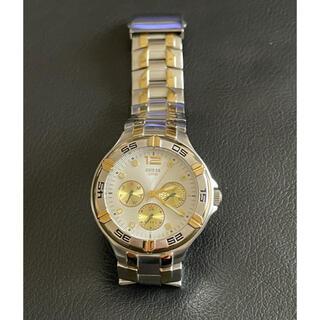 GUESS - 美品 稼働中 GUESS ゲス コンビ トリプルカレンダー腕時計 レディース