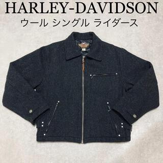 ハーレーダビッドソン(Harley Davidson)のHARLEY DAVIDSON ウール シングル ライダース ジャケット M(ライダースジャケット)
