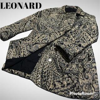 レオナール(LEONARD)の金色 REONARD ダウンジャケット コート 派手 ペイズリー柄 黒(ダウンジャケット)