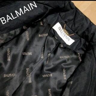 バルマン(BALMAIN)のBALMAIN ジップアップ ダウンジャケット ロゴボタン コート(ダウンジャケット)