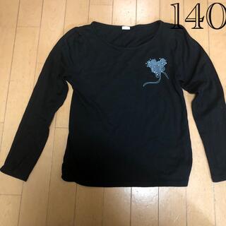 GU - (綺麗め)gu薄手の長袖ロンTシャツ140黒