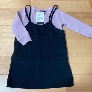 フタフタ(futafuta)の新品値札付き ワッフルロンTとキャミワンピのセット 90cm(Tシャツ/カットソー)
