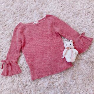 ジルスチュアート(JILLSTUART)の今週限定 pink ribbon tops(ニット/セーター)