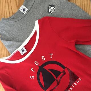 プチバトー(PETIT BATEAU)のプチバトー95cm長袖インナー2枚(Tシャツ/カットソー)