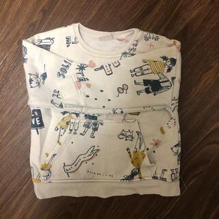 ザラキッズ(ZARA KIDS)の裏起毛トレーナー(Tシャツ/カットソー)
