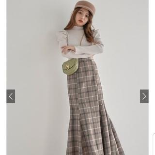 グレイル(GRL)のGRL  チェックマーメイドスカート 新品(ロングスカート)