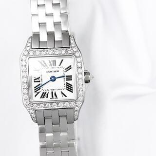 Cartier - 【保証書付】カルティエ  サントスドゥモワゼル ダイヤ レディース 腕時計