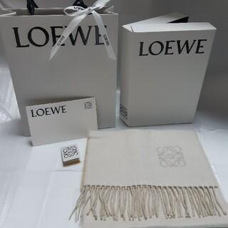 LOEWE - LOEWE ロエベ バイカラースカーフ マフラー ストール