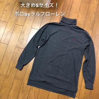ポロラルフローレン(POLO RALPH LAUREN)の大きめSサイズ!ポロbyラルフローレン 古着長袖ハイネックTシャツロンT (Tシャツ/カットソー(七分/長袖))