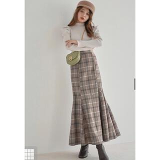 GRL - GRLチェックマーメイドスカートブラウン♡