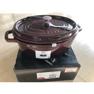 ストウブ(STAUB)の【新品】ストウブ 鍋 Staub ピコ・ココット オーバル 29cm(鍋/フライパン)