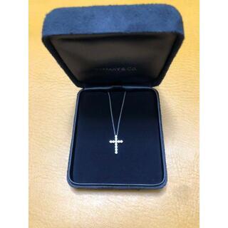 Tiffany & Co. - ティファニー ネックレス クロス ペンダント(スモール) ダイヤ プラチナ