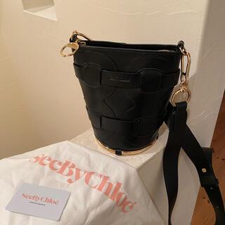 シーバイクロエ(SEE BY CHLOE)のシーバイクロエ  バケツ型バッグ 黒 付属品あり。(ショルダーバッグ)