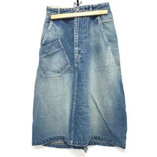 mina perhonen - mina perhonen ミナペルホネン ボトムス 膝の丈 スカート ブルー