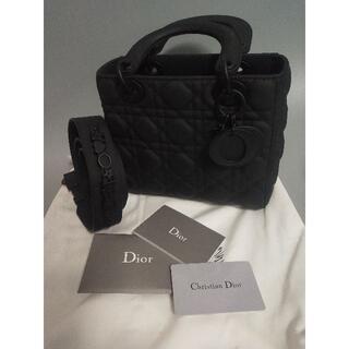 Christian Dior - Dior レディディオール ハンドバッグ マットブラック ミニ